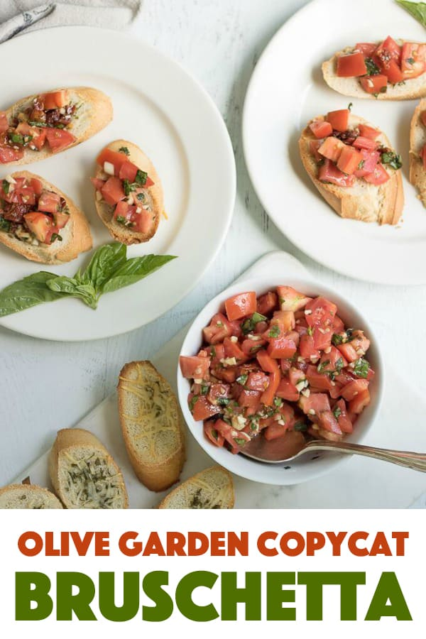 Nothing compares to homemade bruschetta! This appetizer uses chopped tomatoes, fresh basil, garlic, sun-dried tomatoes and a homemade balsamic vinaigrette. It's so delicious piled on top of warmed bread!