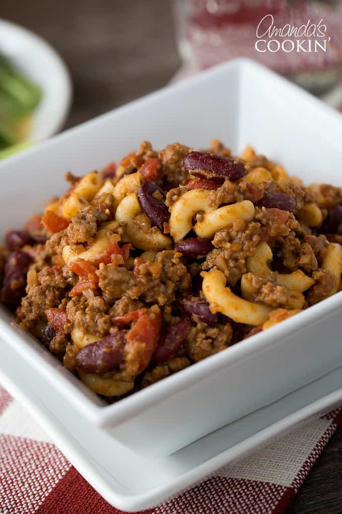 This chili mac recipe is one that my family loves, and truthfully I love it too. Why? Because it's so fast and easy to make and it saves me time from running around trying to figure out what I'm going to make for dinner.