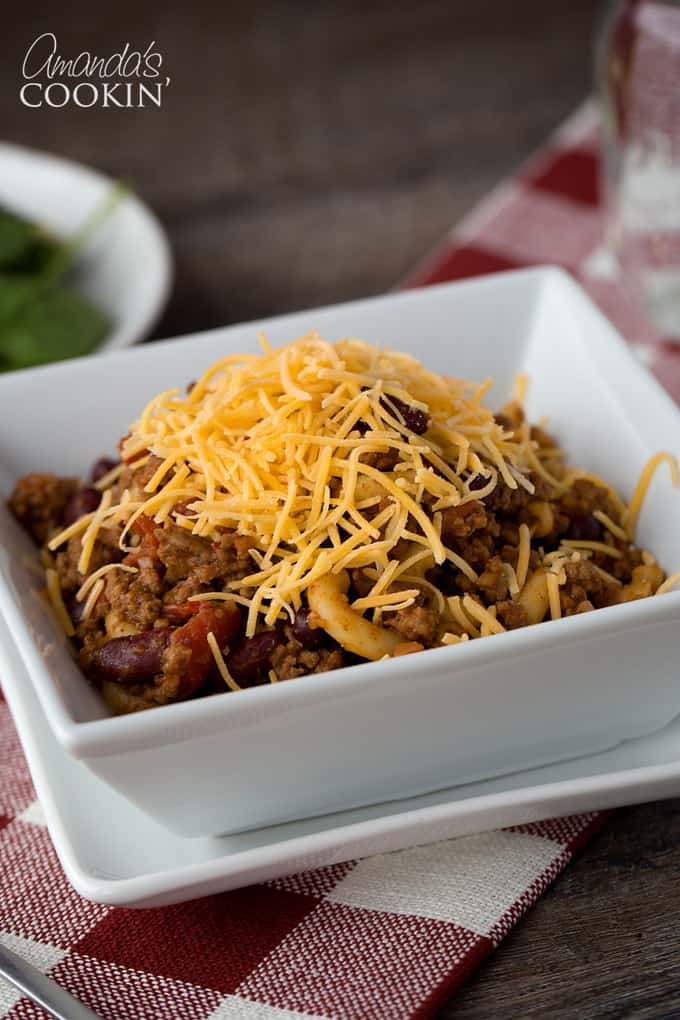 I made this Chili Mac for my family and they loved it