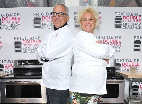Anne Burrell and Geoffrey Zakarian