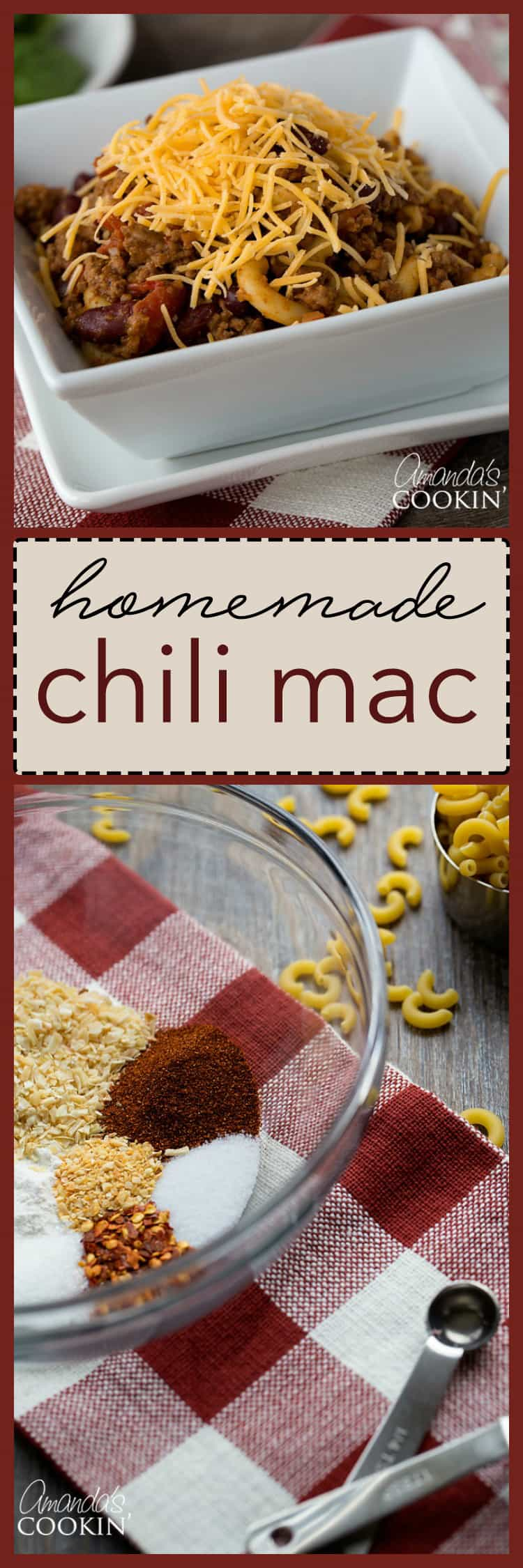 This Chili Mac is a classic comfort food. Marry some chili with quick cook mac, and you have a super fast meal for one of those crazy busy weekday nights!