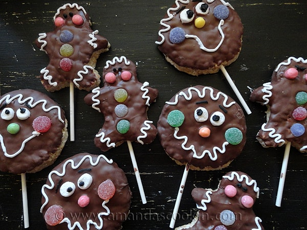 Rice Krispy Treat Gingerbread Men