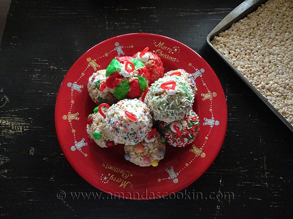 Rice Krispy Tree Trimmer Treats