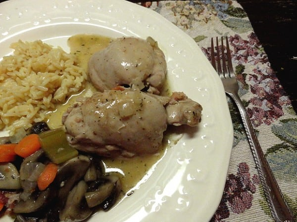 Poulet au Vin Blanc (Chicken in Vermouth)