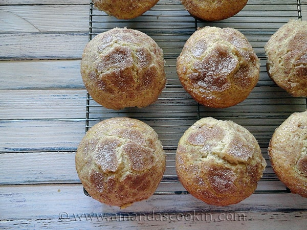 Sugar Crusted Plum Muffins