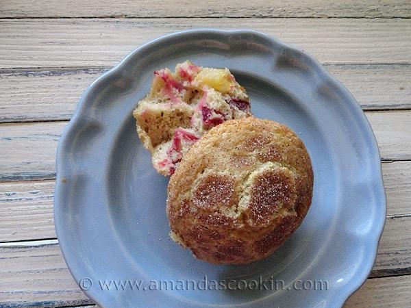 Sugar Crusted Plum Muffins