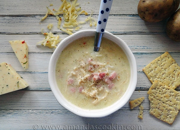 Cheesy Chicken & Ham Chowder