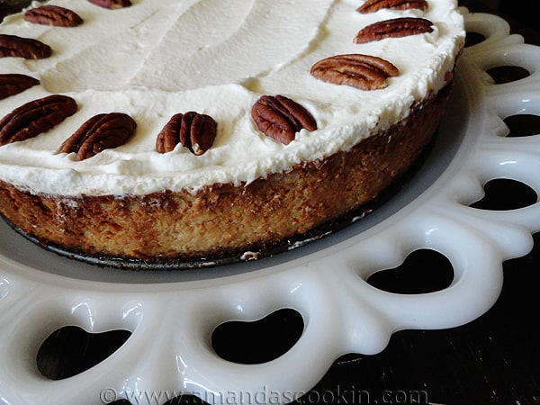 Maple Praline Cheesecake