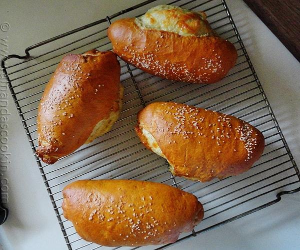 Ham & Cheese Stuffed Pretzel Rolls