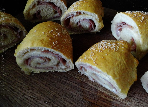 Ham & Cheese Pretzel Roll Sandwiches