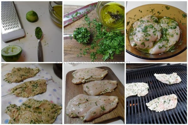 Cilantro Lime Grilled Chicken Breasts