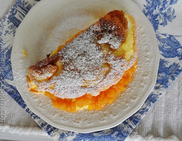 Puffy Peach Dessert Omelet