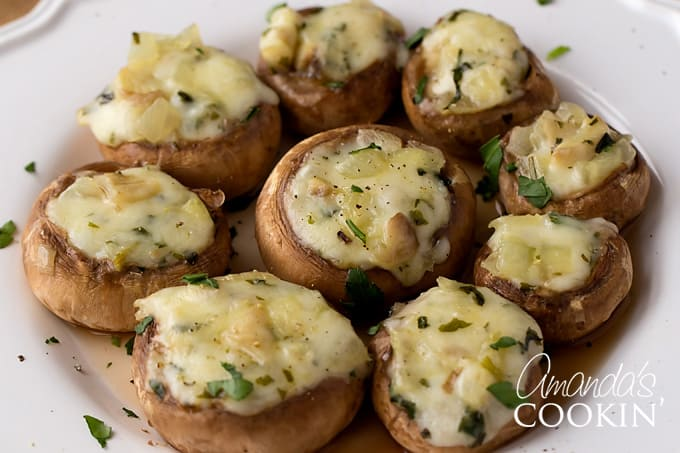 Enjoy Your Stuffed Mushrooms!