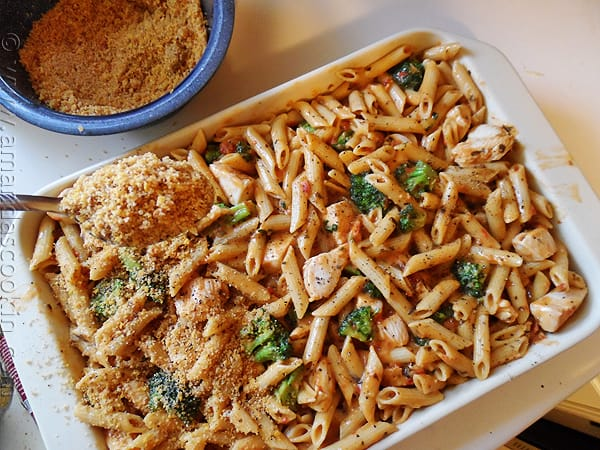 Baked Penne with Chicken, Broccoli & Smoked Gouda