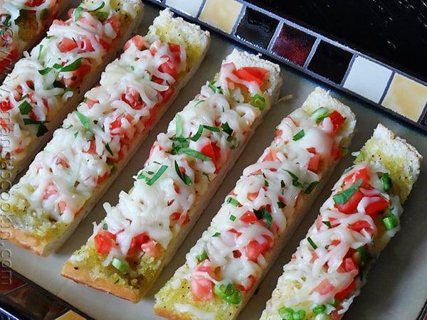Mozzarella Provolone Bruschetta - Amanda's Cookin'