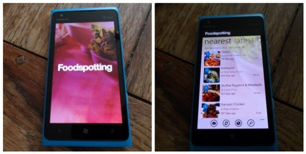 Foodspotting app for Window Phone