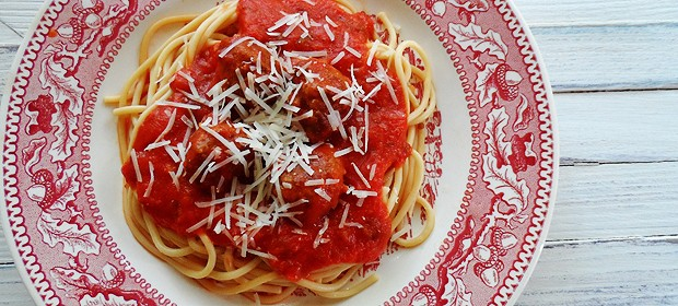 Spaghetti and Meatballs in Marinara Sauce