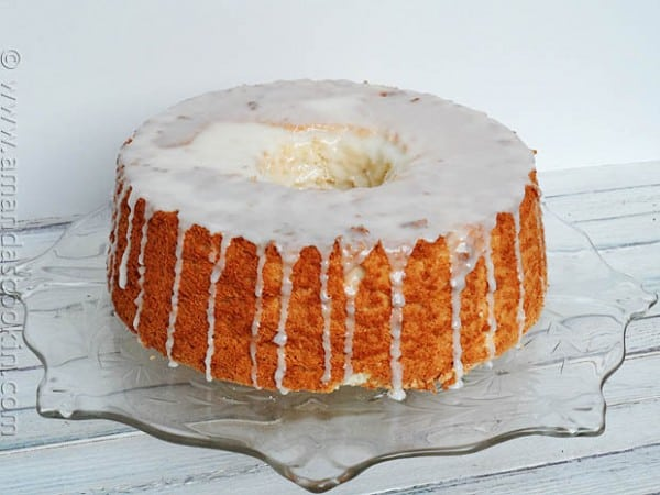 Angel Food Cake with Powdered Sugar Glaze
