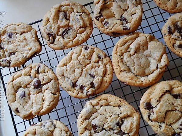 Big Soft Chocolate Chip Cookies AmandasCookin.com
