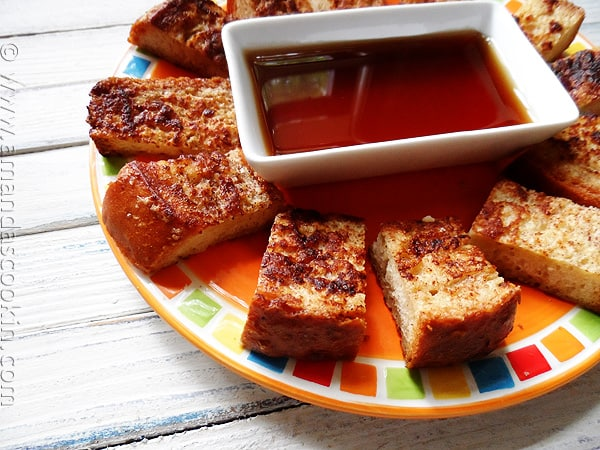How to make freezer french toast sticks - AmandasCookin.com