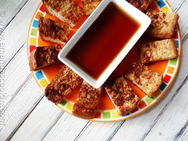 How to make your own freezer french toast sticks - AmandasCookin.com