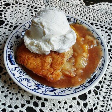 Pear-Peach Crisp AmandasCookin.com