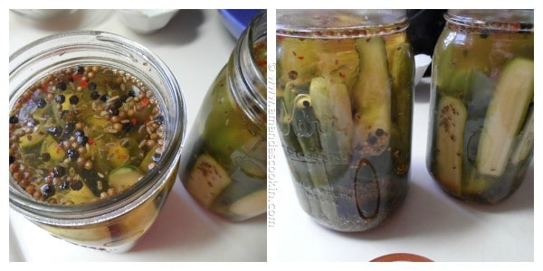 Homemade Claussen Pickles Copycat steps from AmandasCookin.com