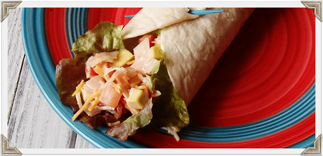 Turkey Cobb Salad Wraps