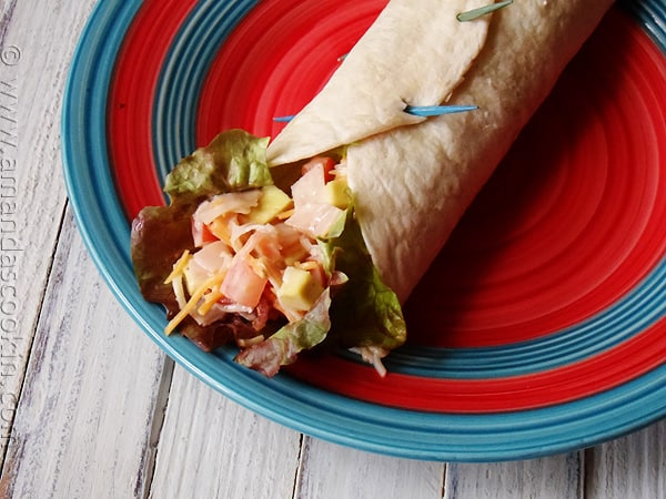 Turkey Cobb Salad Wraps by AmandasCookin.com