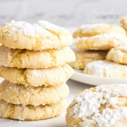 stack of orange snow cookies