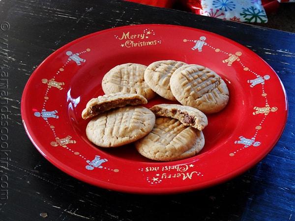 Nutella Filled Peanut Butter Criss Crosses - AmandasCookin.com