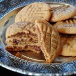 Nutella Filled Peanut Butter Criss Crosses