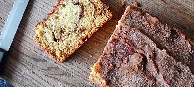 Cinnamon Raisin Swirl Quick Bread