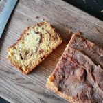 cinnamon swirl quick bread sliced