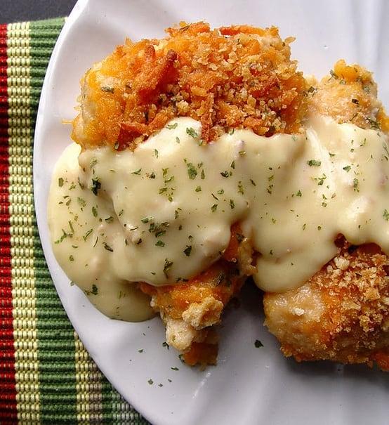 15 Chicken Recipes for Dinner - Baked Crispy Cheddar Chicken