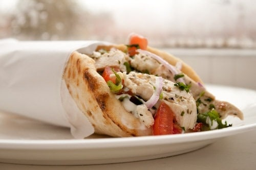 15 Chicken Recipes for Dinner - Lemon Chicken Gyros with Tzatziki and Feta