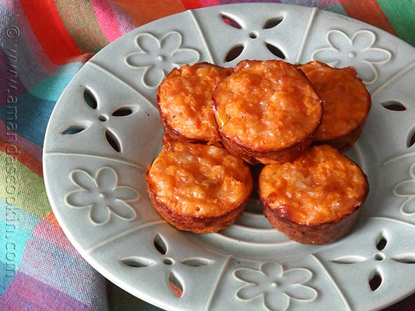 Mexican Quiche Bites - AmandasCookin.com @amandaformaro