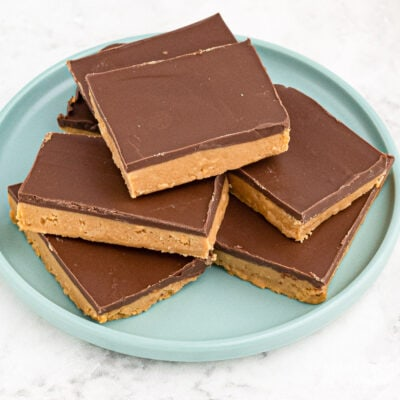 stack of peanut butter bars