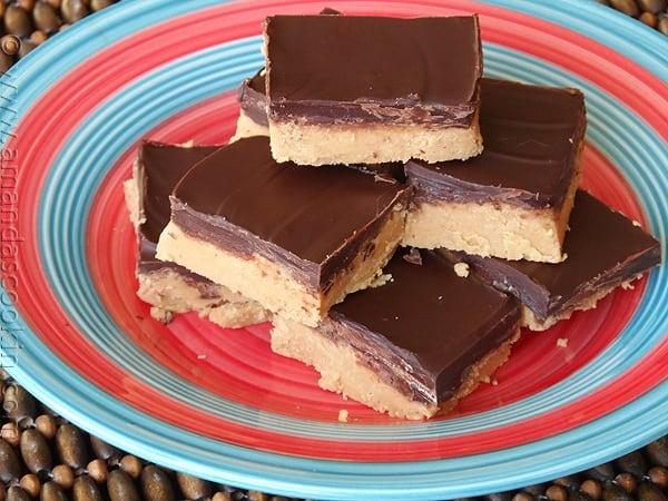 No Bake Dessert - Peanut Butter Bars from AmandasCookin.com @amandaformaro