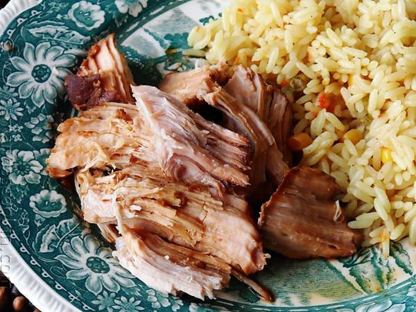 Slow Cooker Pork Roast: Oriental Style from AmandasCookin.com @amandaformaro