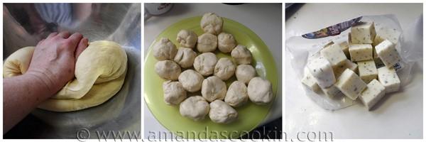 Gooey Garlic Cheese Rolls from AmandasCookin.com @amandaformaro