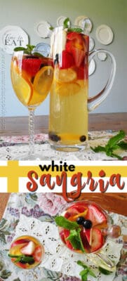 white sangria pin image