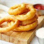 Homemade Onion Rings and Dipping Sauce