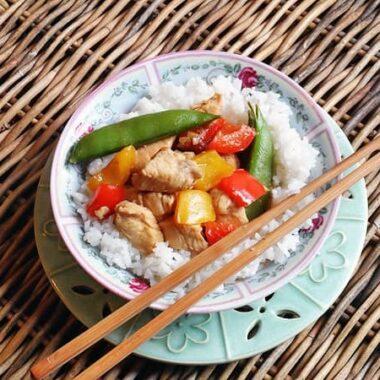 Kung Pao Chicken at AmandasCookin.com @amandaformaro