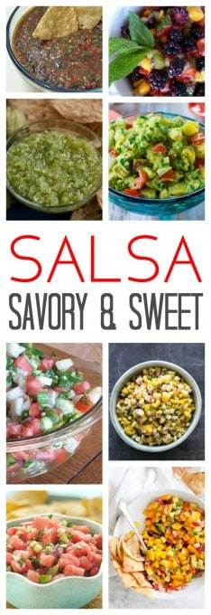 Salsa Recipes - No matter your preference, chances are good there's a salsa recipe here for you. From tomatoes, onion, cilantro, tomatillos, avocados, watermelon, mango and more! A salsa recipe for everyone.