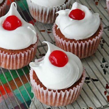 3 Ingredient Cherry Cupcakes by @amandaformaro - AmandasCookin.com
