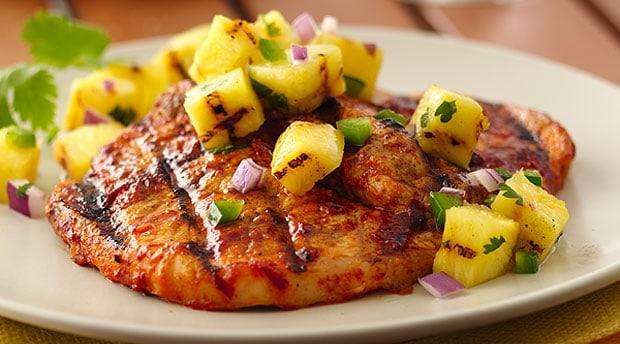 Pork Chops al Pastor on the Grill