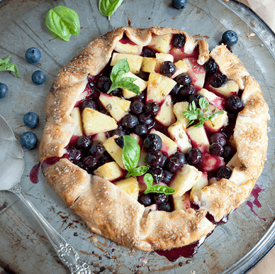 Pineapple Blueberry Basil Galette