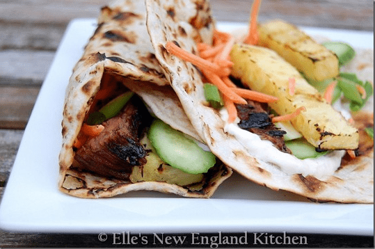 Grilled Hawaiian Teriyaki Steak Wraps