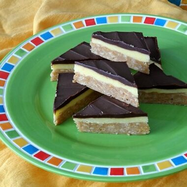 No-Bake Peanut Butter Pudding Bars at AmandasCookin.com @amandaformaro